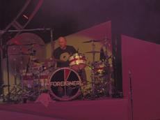 Original drummer of Foreigner Dennis Elliott made a surprise appearance