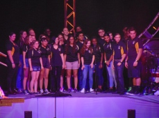 Blake High School choir singing backup on I Want To Know What Love Is